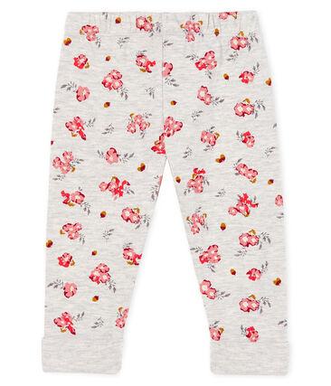 Baby Girls' Printed Tube Knit Trousers Beluga grey / Multico white