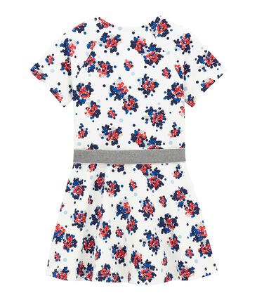 Flower print cotton sweatshirt dress