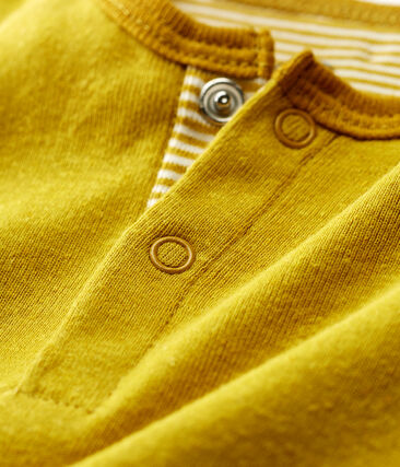 Baby boys' playsuit made of cotton/linen blend Bamboo yellow