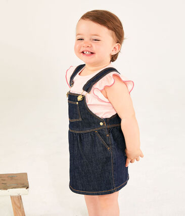 Baby Girls' Short-Sleeved Plain Blouse Minois pink