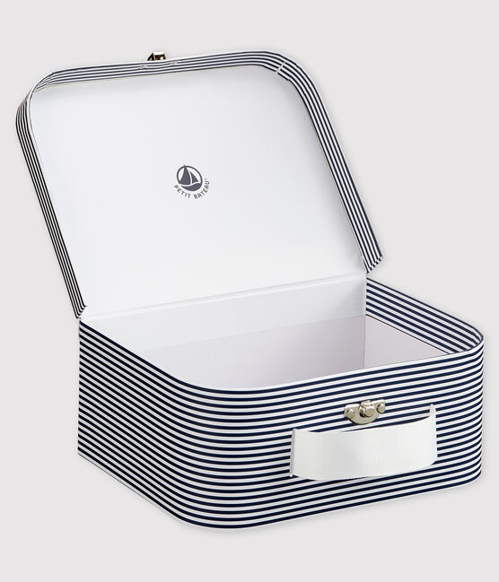 Baby's Stripy Print Vanity Case Smoking blue / Marshmallow white