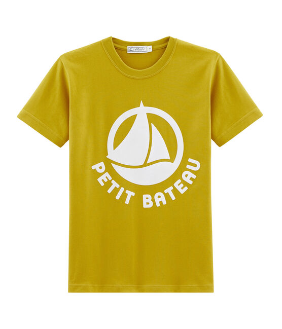 Ladies' logo T-shirt Bamboo yellow