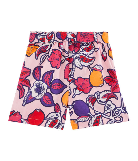 Girls' Bermuda Shorts Patience pink / Multico white