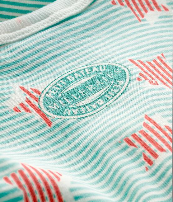 Unisex Baby's Ribbed Sleepsuit Marshmallow white / Multico white