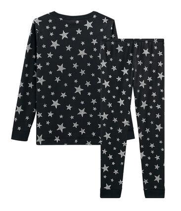 Boys' Snugfit Ribbed Pyjamas Capecod grey / Argent grey