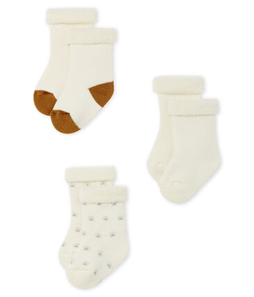 Set contains 3 pairs of socks made of snuggly, comfy terry towelling. . set