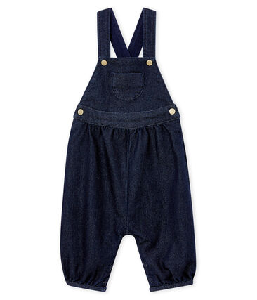 Baby girl's soft denim dungarees