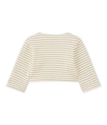 Baby girls' striped cardigan