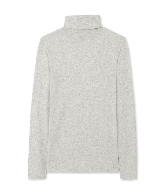 Women's undersweater in light cotton Beluga Chine grey