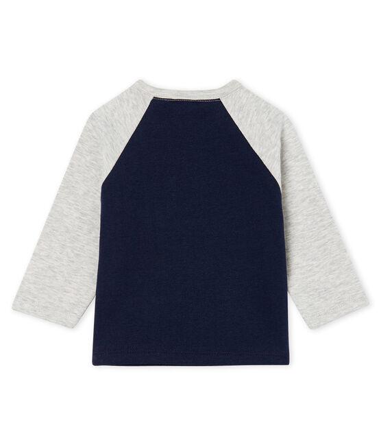 Baby Boys' Long-Sleeved T-Shirt Smoking blue / Beluga grey