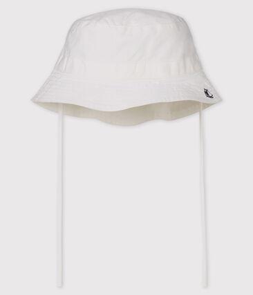 Unisex twill bucket hat for babies Marshmallow white