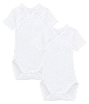 Unisex Babies' Short-Sleeved Newborn Bodysuit - Set of 2