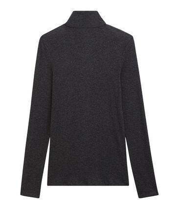 Women's light cotton polo neck City Chine grey