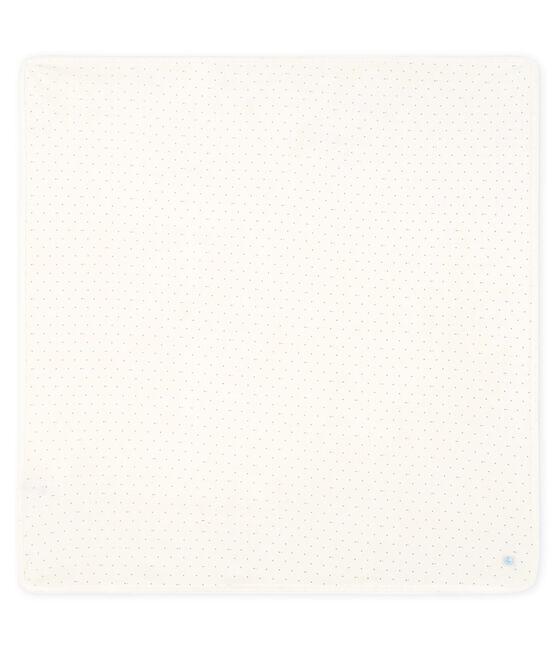 Babies' Ribbed Maternity Blanket Marshmallow white / Acier blue