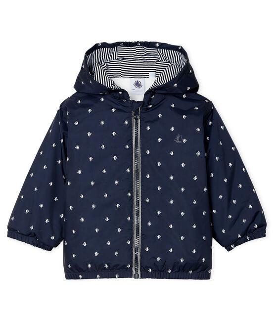 Unisex Baby's Fleece-Lined Jacket Smoking blue / Marshmallow white