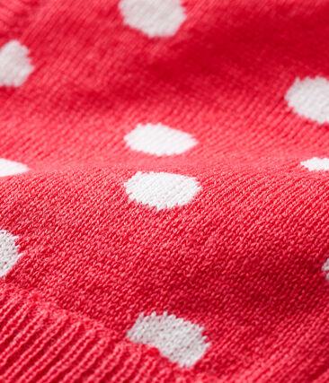 Unisex Baby Balaclava Signal red / Marshmallow white