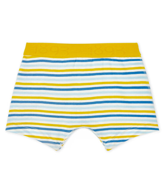 Boys' boxer shorts Marshmallow white / Multico white