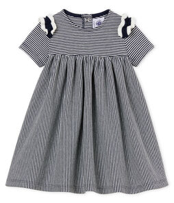 Baby girls' pinstriped dress