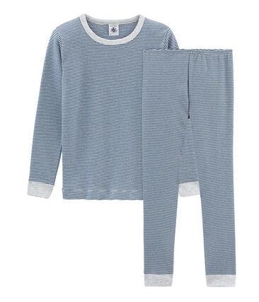 Boys' Snugfit Pyjamas Major blue / Marshmallow white
