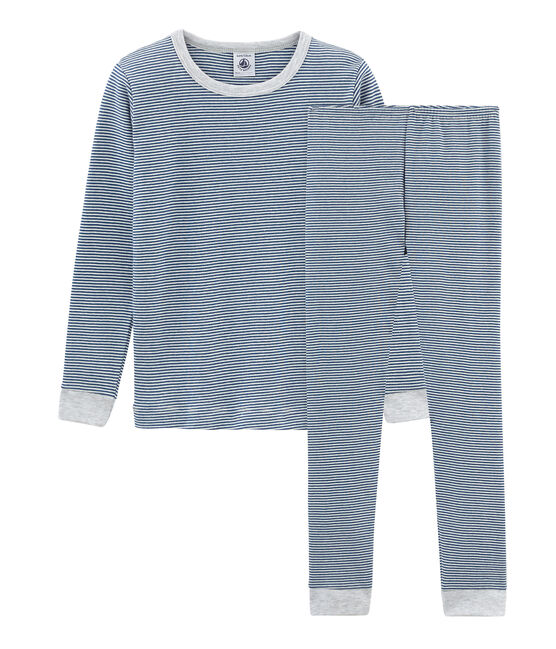 Boys' Snugfit Pyjamas Major blue / Marshmallow white