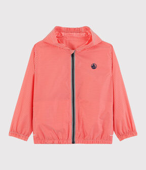 Children's Unisex Recycled Polyester Windbreaker Petal pink / Crystal blue