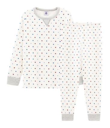 Boys' Tube Knit Pyjamas Marshmallow white / Multico white