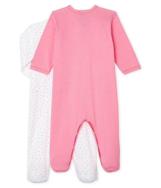 Baby Girls' Ribbed Sleepsuit - 2-Piece Set . set