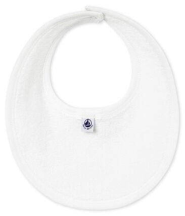 Unisex baby's bib in plain soft cotton.