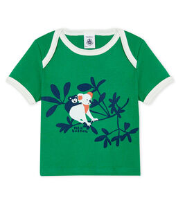 Short-sleeved T-shirt for baby boys Prado green