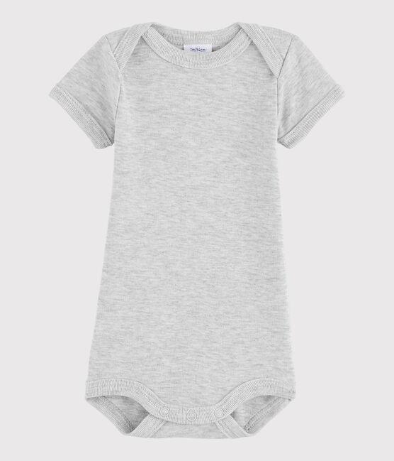 Baby Boys' Short-Sleeved Bodysuit Beluga Chine grey