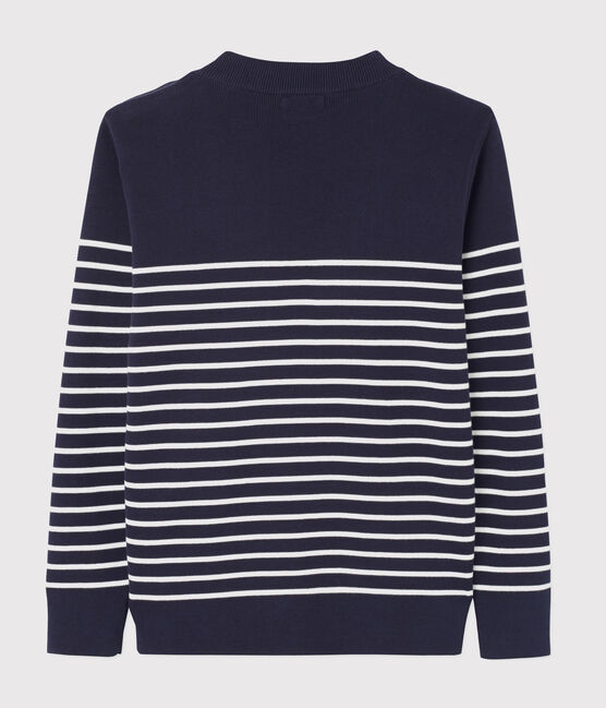 Men's navy jumper Smoking blue / Marshmallow white