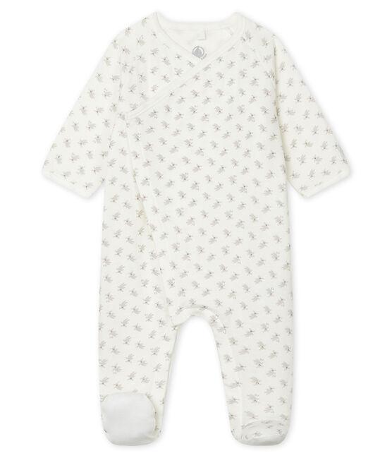 Babies' Tube Knit Sleepsuit Marshmallow white / Multico white