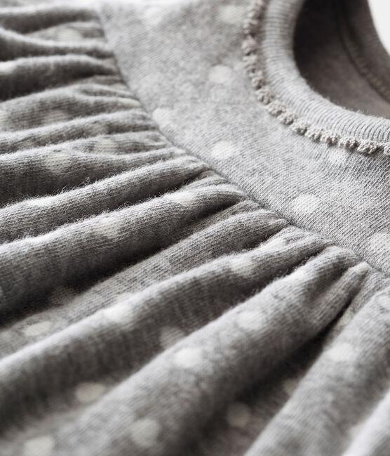 Baby girl's leggings dress Subway grey / Multico white