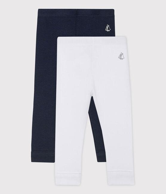 Pack of 2 leggings for baby girls . set