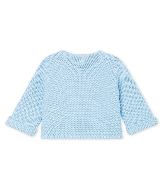 Babies' Cardigan Made Of 100% Cotton Knit Toudou blue