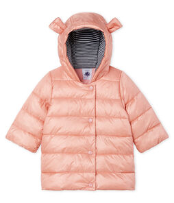 Baby Girls' Satin Look Polyamide Parka Coat Fleur pink