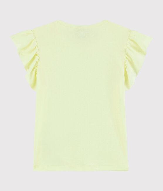 Girls' Short-Sleeved Cotton T-Shirt Citronel yellow