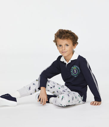 Boys' Trousers Poussiere grey / Multico white
