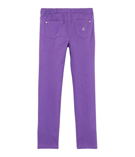 Girls Slim-fit Stretch Jeans Real purple