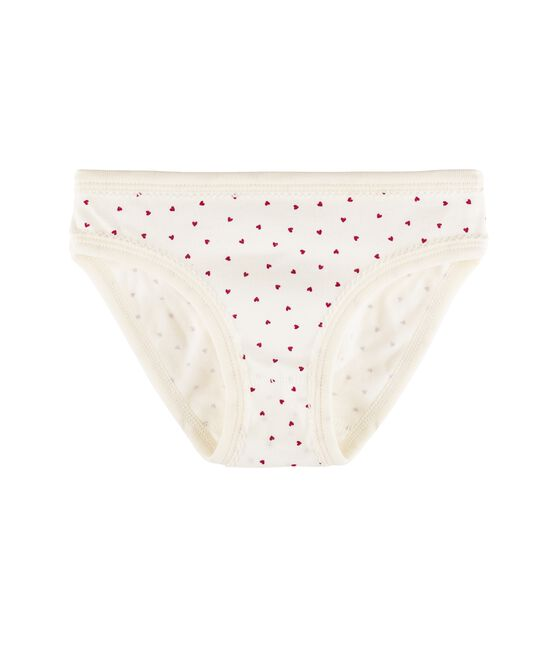 Girls' Knickers Marshmallow white / Clafouti red