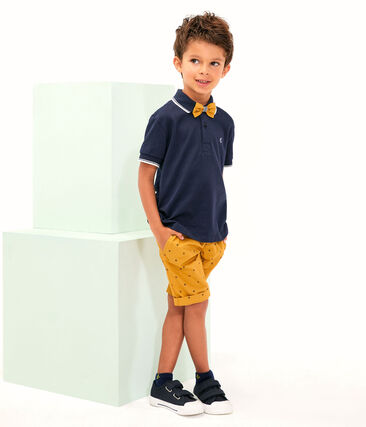 Boys' Bermuda Shorts Topaze yellow / Feta white