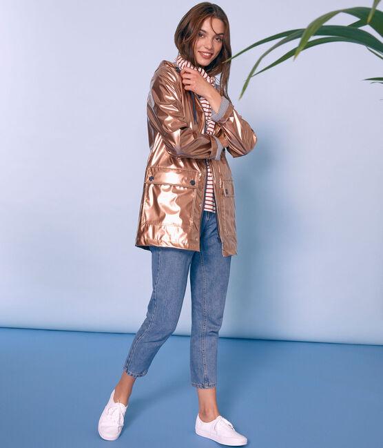 Women's iconic raincoat Copper pink