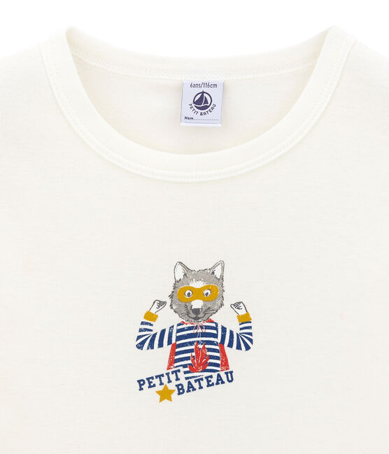 Little boy's short sleeved T-shirt Marshmallow white