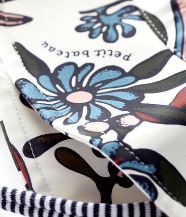 Baby girls' print sun hat Marshmallow white / Multico white