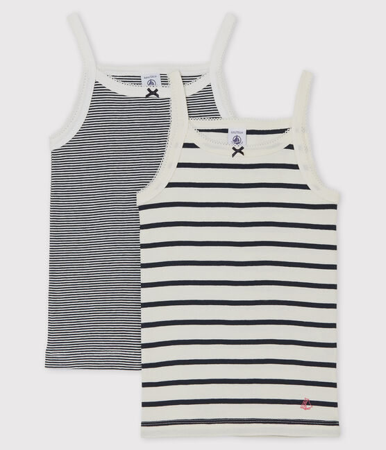 Girls' Striped Strappy Tops - 2-Piece Set . set