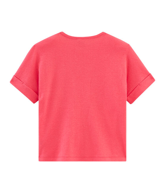 Girls' Short-sleeved T-shirt Groseiller pink