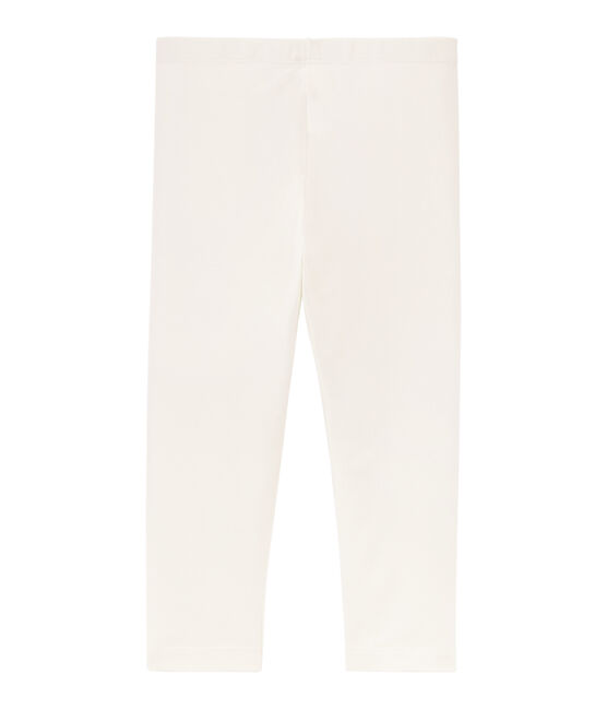 Girls' Cropped Leggings Marshmallow white
