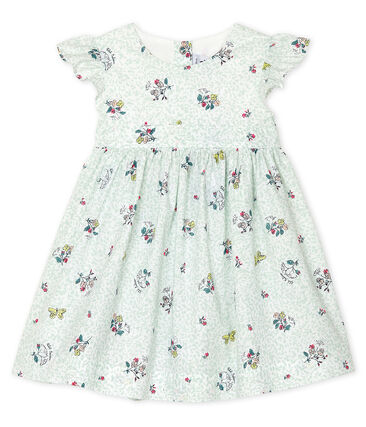 Baby Girls' Short-Sleeved Print Dress Marshmallow white / Multico white