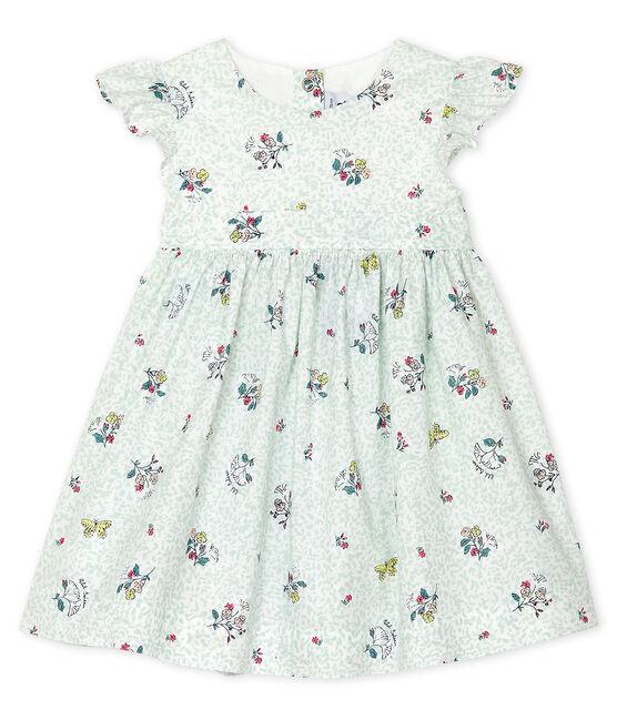 Baby Girls' Short-Sleeved Print Dress Marshmallow white / Multico white