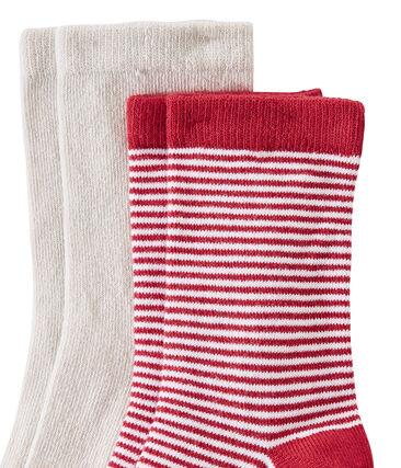Set of 2 pairs of boy's socks . set